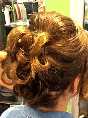 Make it a special celebration with an updo