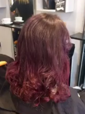 Go for temporary colour fusion with a purple milkshake